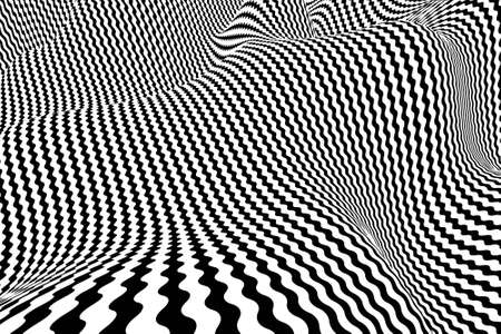 Optical illusion lines background. EPS 10 Vector illustration