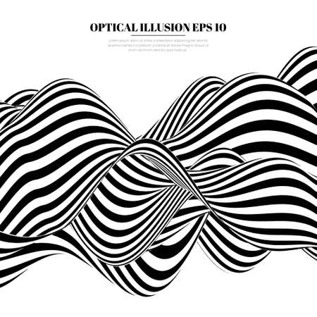 Fond de lignes d'illusion d'optique. Illustration vectorielle EPS 10