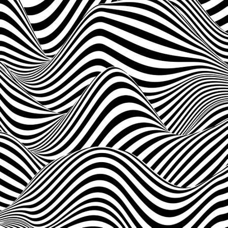 Optical illusion lines background. EPS 10 Vector illustration Vektorové ilustrace