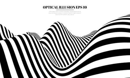 Optical illusion lines background. EPS 10 Vector illustration Foto de archivo - 123067162