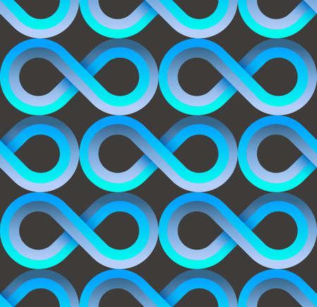 Blue fabric pattern,cool tech patterns design. Retro geometric seamless pattern. Vector illustration.