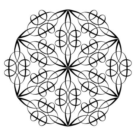 Oriental pattern. Flower Mandala. Vintage decorative elements. Vector illustration