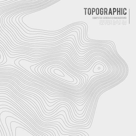 Grey contours vector topography. Geographic mountain topography vector illustration. Topographic pattern texture. Ilustração