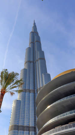Dubai, UAE December 252018 Burj khalifa. Architecture building dubai skyline. Aerial view of united arab emirates city. 新聞圖片