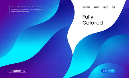 Website background modern abstract illustration with colorful abstract vector gradient background on white background. Vector abstract geometric dynamic pattern frame. Brochure cover vector design.
