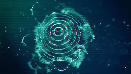 Futuristic Glitch background. Abstract pixel noise glitch error video damage like Vhs glitch. Pattern for wallpaper design. Screen error effect. Abstract background. Medical background. Cosmic abstract texture.
