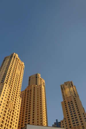 Dubai hotels at summer day.