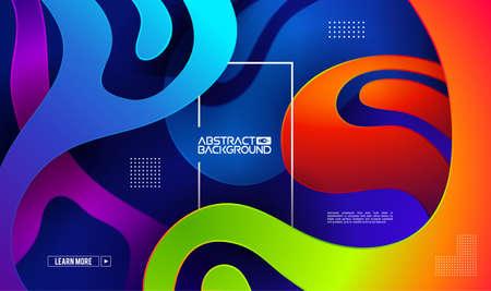 Modern gradient shape background. Colorful gradient cover design. Fluid flat shapes composition. Vector modern design elements.