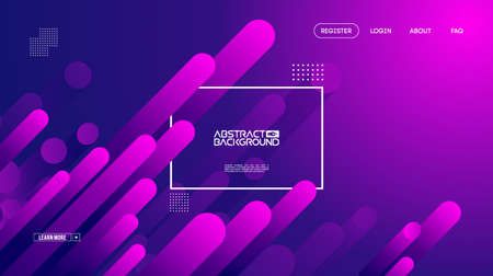 Geometric background flat layout template on purple gradient backdrop. Modern style future poster template. Graphic design element with geometric shape. Modern template vector design. EPS 10. Фото со стока
