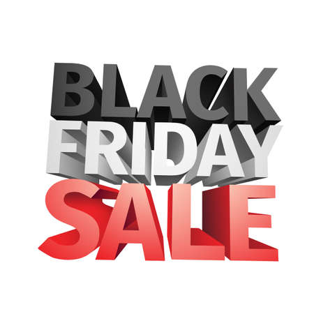 3D big friday sale text isolated on white background . Vector illustration . Иллюстрация