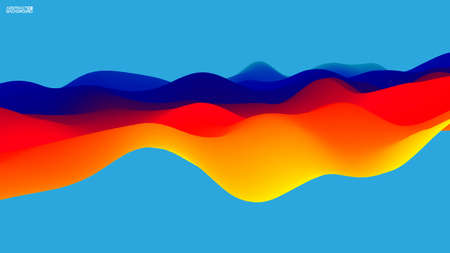 Gradient wave abstract background. Presentation template. Colorful waves background vector. EPS 10