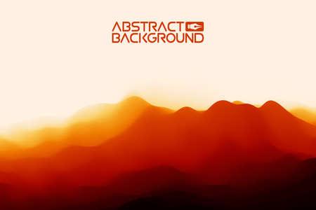 3D landscape Background. Black red Gradient Abstract Vector Illustration.Computer Art Design Template. Landscape with Mountain Peaks Иллюстрация