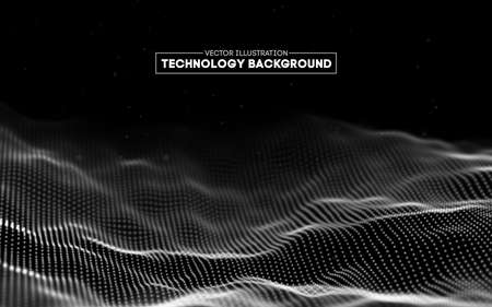 Abstract technology background. Background 3d grid.Cyber technology Ai tech wire network futuristic wireframe. Artificial intelligence . Cyber security background Иллюстрация