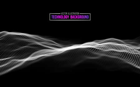 Abstract technology background. Background 3d grid.Cyber technology Ai tech wire network futuristic wireframe. Artificial intelligence . Cyber security background Vector Иллюстрация