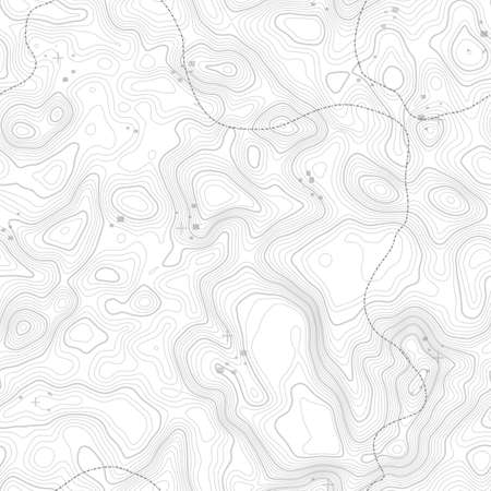 Seamless pattern. Topographic map background with space for copy Seamless texture. geographic grid abstract vector illustration . Mountain hiking trail terrain . 일러스트