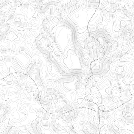 Seamless pattern. Topographic map background with space for copy Seamless texture. geographic grid abstract vector illustration . Mountain hiking trail terrain . Ilustração