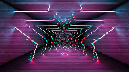 Futuristic pattern with glitch digital design. Internet technology. Abstract pixel light effect.