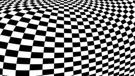 Optical illusion vector. Checker texture 向量圖像