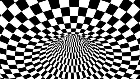 Optical illusion vector. Abstract vector tunnel. Black and White Abstract Hypnotic Wormhole Tunnel. 版權商用圖片 - 138339674