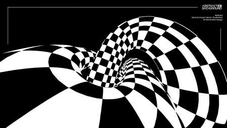 Optical illusion torus knot background. 向量圖像