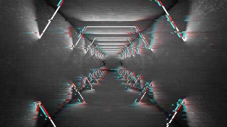 Futuristic pattern with glitch digital design. Internet technology. Abstract pixel light effect. Vhs glitch with noise error video damage screen. Stock fotó