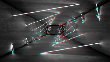 Analog static screen background. Abstract pixel noise glitch error video damage. Vhs glitch design.