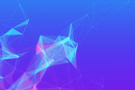 Abstract technology background with empty space for text. Purple blue tones.
