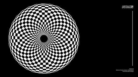 Optical illusion vector. Checker texture. Vector illustration
