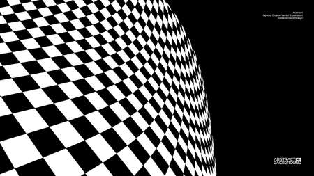 Optical illusion vector. Checker texture design illustration