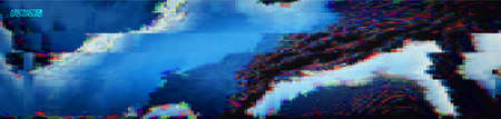 Glitch art digital vector illustration. Graphic vector art. Glitch digital color pixel noise. Abstract grunge texture.