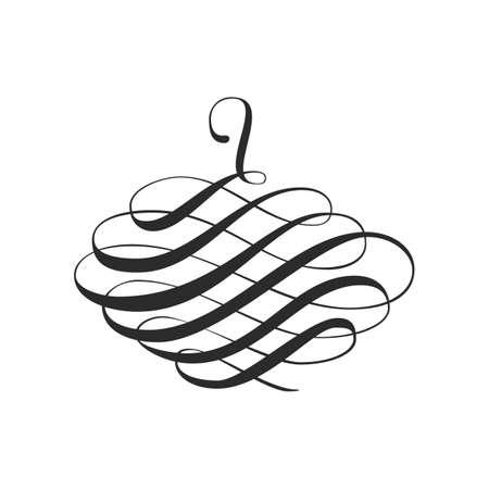 Calligraphic Swirl Design Element and Page Decoration Stock Illustratie