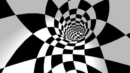 Optical illusion. 3D Rendering. Abstract 3d pop art illustration.