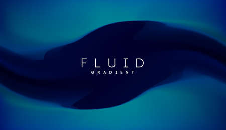 Blue gradient fluid background. Fluid colors 3d graphic gradient abstract. Shapes abstract futuristic 3d flow.
