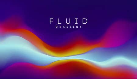 Digital gradient background. Shape holographic gradient. Liquid 3d substance. Light color gradient abstract background. Vector illustration. 矢量图像