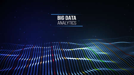 Black data technology background. Business computer internet concept. Big data network illustration. Digital communication and web analysis. Info storage abstract connection.