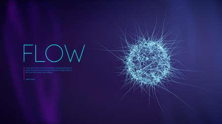 Ai artificial intelligence medicine line flow. Music abstract background, sound. Purple digital world fiber optic 3d design. Machine learning future innovation. Tecnology background vector.