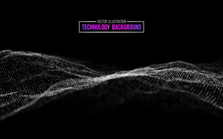 Technology background vector in abstract style. Abstract technology communication design innovation concept background. System engineering and digital communication. Abstract futuristic background.