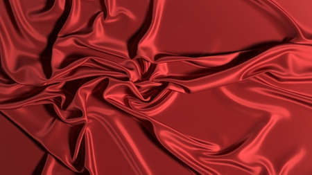 Abstract red silk background. Red textile luxury abstract wallpaper.