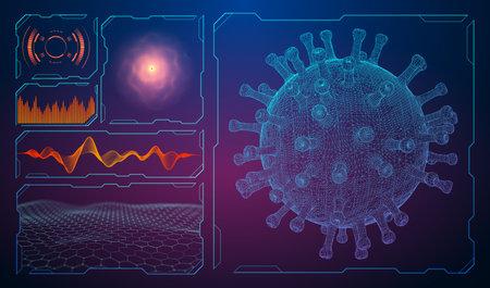 Virus symbol in the black Stockfoto