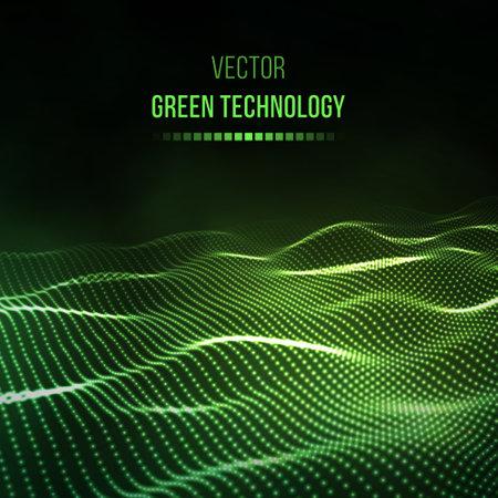 Green technology background. Green energy vector illustration eps10. Team communication concept green background. Vector presentation tech background. Stock Illustratie
