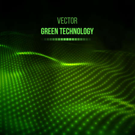 Green technology background. Team communication concept green background.