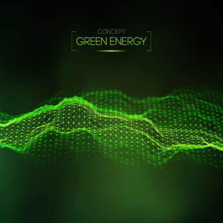 Green energy concept. Vector green technology background. Futuristic vector illustration. Stock Illustratie