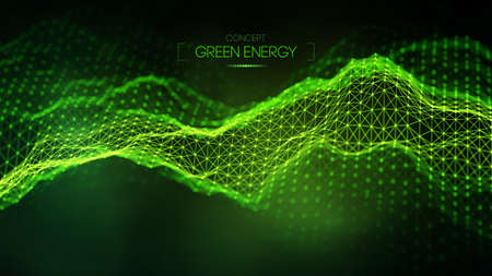 Green energy concept. Vector green technology background. Futuristic vector illustration.