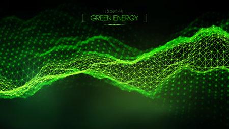 Green energy concept. Vector green technology background. Futuristic vector illustration. Ilustração