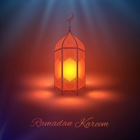 Ramadan kareem vector . Eid mubarak ramadan background. Design of Ramadan lantern .