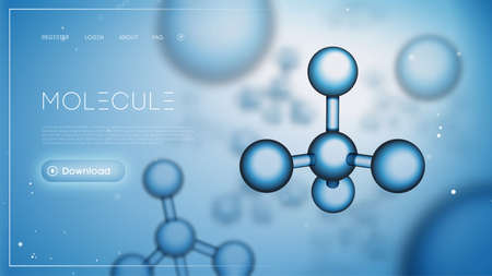 Molecule science dna presentation. Chemical background. Molecular particles background compounding template. Gene abstract network.