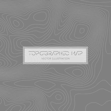 Abstract paper cut shapes. Topographic map on white background. Topo map elevation lines. Contour vector abstract vector illustration. Geographic world topography.