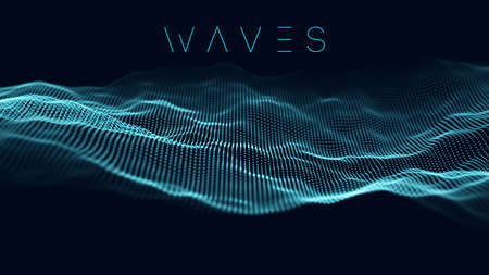 Music wave background. Vector sound wave abstract background. Big data visualization . Stock Illustratie