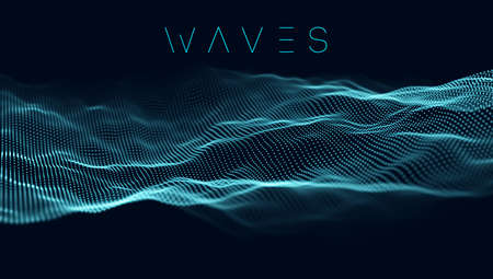 Music wave background. Vector sound wave abstract background. Big data visualization . Stockfoto