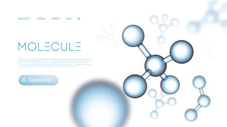 Molecular particles background compounding template. Gene abstract network. Molecule science dna presentation. Chemical background.